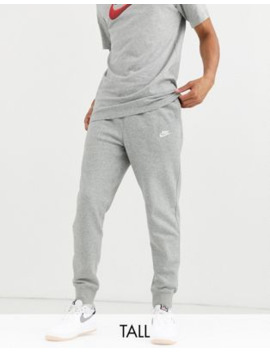 Nike Tall Club Cuffed Jogger In Grey by Nike