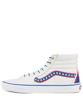 Sk8 Hi Americana True White/Racing Red by Vans