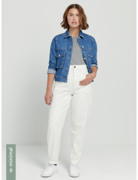 The Linda High Waisted Balloon Fit  Jean In Light Indigo by Frank & Oak