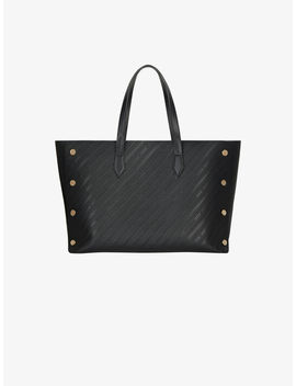 Medium Bond Shopper In Givenchy Chain Embossed Leather by Givenchy