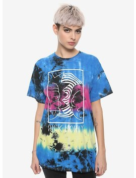 Rick And Morty Horizontal Tie Dye Girls T Shirt by Hot Topic