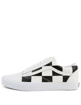 Leather Checkerboard Old Skool True White/Black by Vans