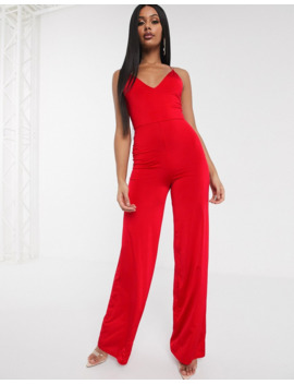 Asos Design Slinky Jumpsuit With Elastic Straps by Asos Design