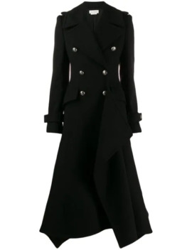 Double Breasted Asymmetric Coat by Alexander Mc Queen