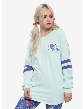Her Universe Disney The Little Mermaid 80s Pastel Girls Athletic Jersey by Hot Topic