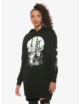 The Nightmare Before Christmas Jack &Amp; Sally Hoodie Dress by Hot Topic