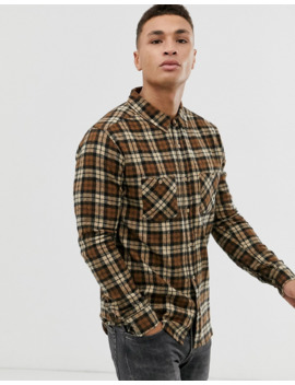 Soul Star Fitted Check Shirt With Double Check Pocket by Asos