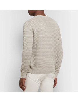 Textured Linen And Cotton Blend Sweater by Club Monaco