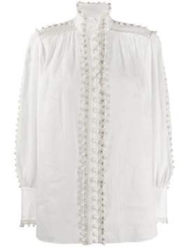 Super Eight Bauble Trimmed Blouse by Zimmermann