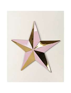 Star Pink & Gold Wall Hanging Small by Olivar Bonas