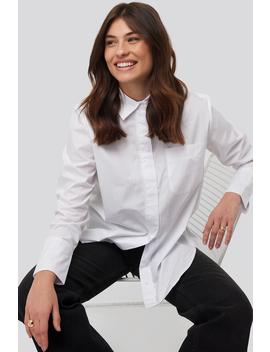 Oversized Poplin Shirt White by Na Kd