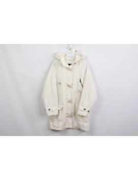 90s Eddie Bauer Fishermans Toggle Hooded Parka Jacket White by Vintage  ×  Eddie Bauer  ×