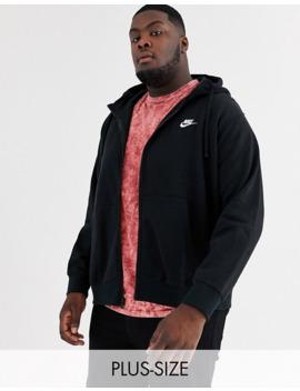 Nike Plus Club Full Zip Hoodie In Black by Nike