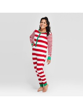 Women's Striped Holiday Union Suit   Wondershop™ Red by Shop Collections