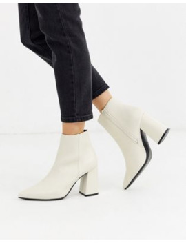 New Look Heeled Boot In White by New Look