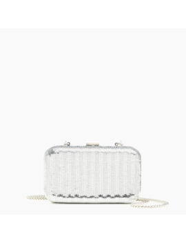 Minaudière Bag In Silver Sequins by J.Crew
