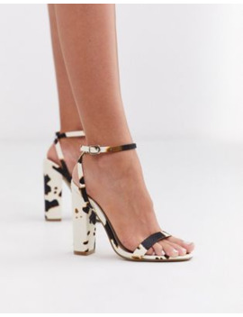 Missguided Cow Print Barely There Sandals by Missguided's