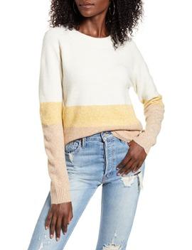 Doffy Colorblock Oversize Crewneck Sweater by Vero Moda