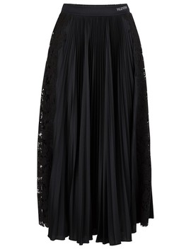 Pleated Midi Skirt by Valentino