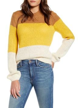 Wine Colorblock Crewneck Sweater by Vero Moda