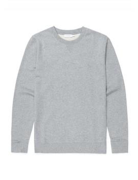 Men's Cotton Loopback Sweatshirt In Grey Melange by Sunspel