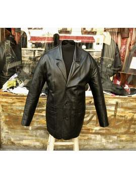 Original 70s Beatles Style Leather Jacket Size Xl by Etsy