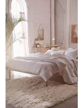 White Boho Single Bed by Urban Outfitters