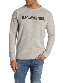Crew Neck Knit Pullover by Diesel