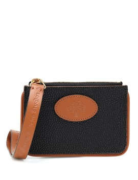X Mulberry Leather Coin Purse by Acne Studios