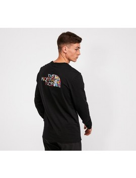 Easy Long Sleeve T Shirt | Black / Stickerbomb by The North Face