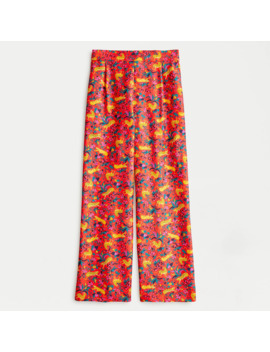 Collection Silk Twill Pull On Pant In Jungle Cat Floral Print by J.Crew