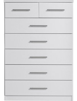 Argos Home Normandy 5+2 Drawer Chest Of Drawers   White343/3904 by Argos