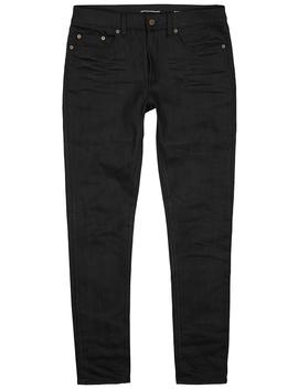 Black Slim Leg Jeans by Saint Laurent