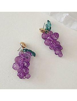 Kokyu   Acrylic Grapes Dangle Earring by Kokyu