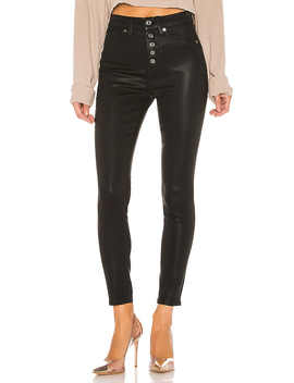 B(Air) The High Waist Ankle Skinny In Black Coating by 7 For All Mankind