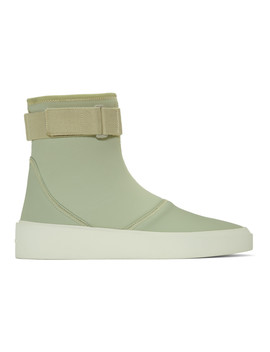 Green Scuba High Top Sneakers by Fear Of God