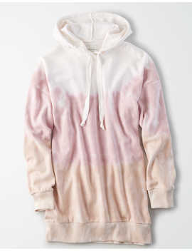 Ae Fleece Dip Dye Oversized Hoodie by American Eagle Outfitters