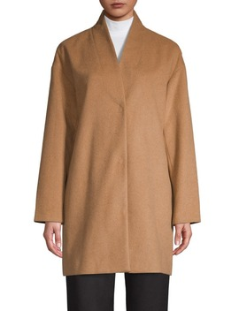 Wool Blend Cocoon Coat by En Thread