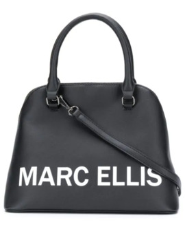 Logo Print Tote Bag by Marc Ellis