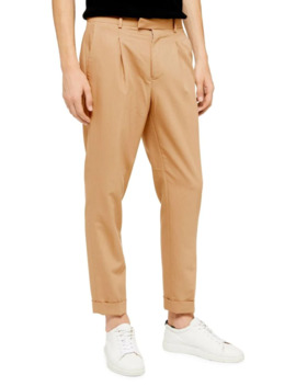 Camel Bridge High Waisted Skinny Trousers by Topman
