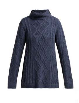 Hester Funnel Neck Cashmere Sweater by Queene And Belle