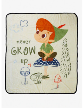 Disney Peter Pan Never Grow Up Throw Blanket by Hot Topic