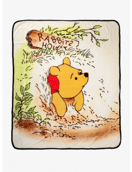 Disney Winnie The Pooh Storybook Art Throw Blanket by Hot Topic