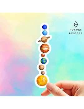 Planets Universe Sticker Solar System Sticker Planets Space Galaxy Vinyl Decal Macbook Sticker Zodiac Geek by Etsy