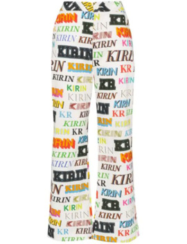 Logo Printed Trousers by Kirin