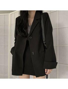 Sukol   Plain Loose Fit Blazer / High Waist Mini Skirt by Sukol