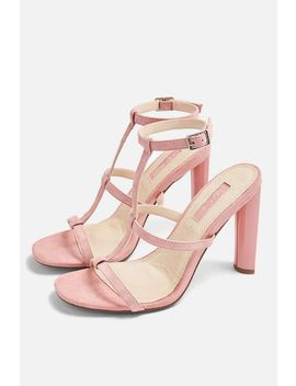**Wide Fit River Strappy Block Heels by Topshop