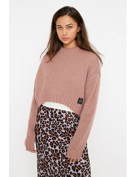 Uo Pink Utility Crew Neck Jumper by Urban Outfitters