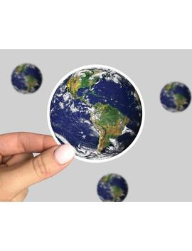 Planet Earth Sticker, Earth Laptop Sticker, Earth Car Sticker, Earth Yeti Sticker, Planet Earth Decal, Planet Earth by Etsy