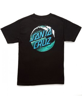Santa Cruz Wave Dot T Shirt   Black by Ccs